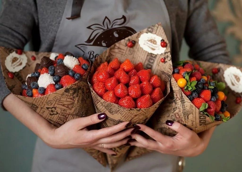 фарида букеты ягоды в шоколаде как